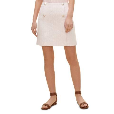 Claudie Pierlot Multi Pink Button Detail Mini Skirt