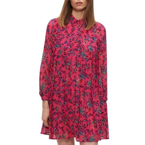Claudie Pierlot Multi Flared Button Collar Dress