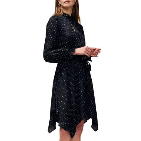 Claudie Pierlot Black Print Skater Dress