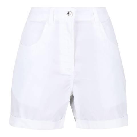 Regatta White Linen Shorts