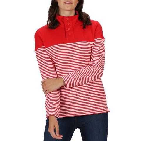 Regatta Red Striped Fleece