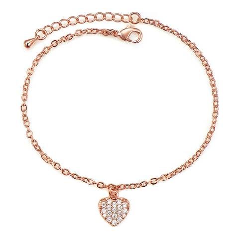 Ma Petite Amie Rose Gold Plated Bracelet with Swarovski Crystals