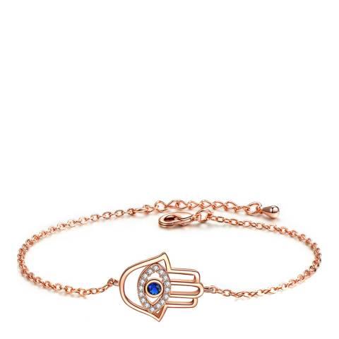 Ma Petite Amie Rose Gold Plated Eye Bracelet with Swarovski Crystals