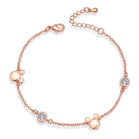 Ma Petite Amie Rose Gold Plated Bracelet with Swarovski Crystals