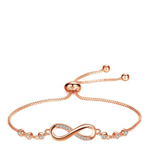 Ma Petite Amie Rose Gold Plated Infinity Bracelet with Swarovski Crystals