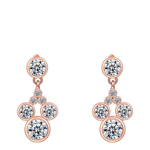 Ma Petite Amie Rose Gold Plated Mickey Mouse Earrings with Swarovski Crystals