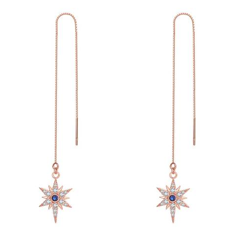 Ma Petite Amie Rose Gold Plated Star Earrings with Swarovski Crystals
