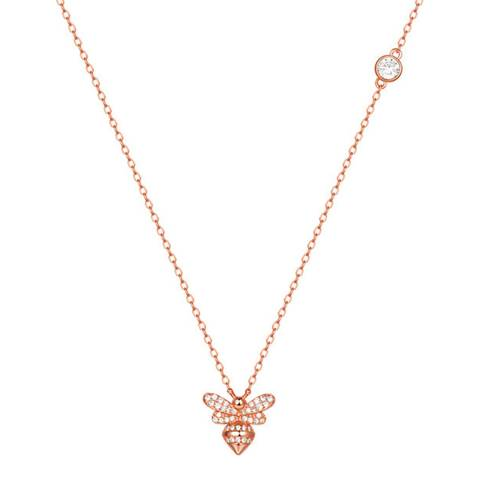 Ma Petite Amie Rose Gold Plated Necklace with Swarovski Crystals
