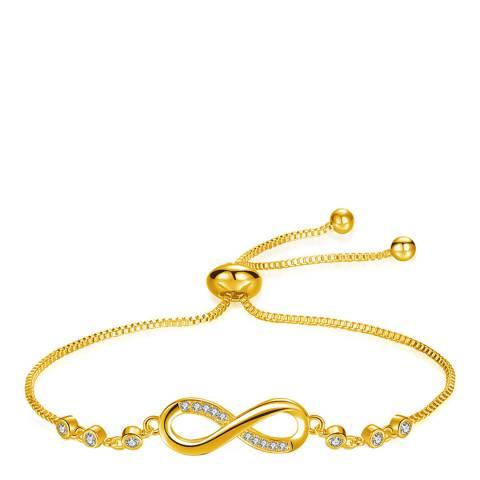 Ma Petite Amie Gold Plated Infinity Bracelet with Swarovski Crystals