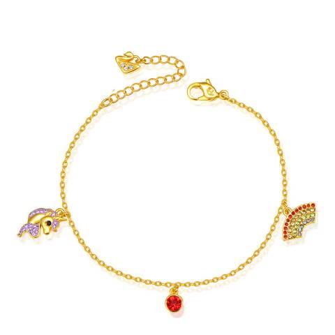 Ma Petite Amie Gold Plated Novelty Bracelet with Swarovski Crystals