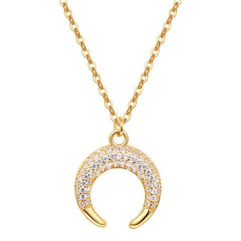 Ma Petite Amie Gold Plated Necklace with Swarovski Crystals