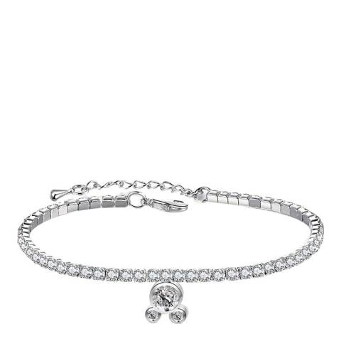 Ma Petite Amie White Gold Plated Mickey Mouse Bracelet with Swarovski Crystals