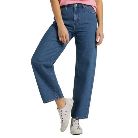 Lee Jeans Mid Blue Wide Leg Cotton Jeans
