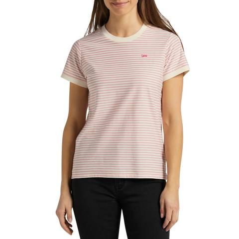 Lee Jeans Pink Stripe Cotton T-Shirt
