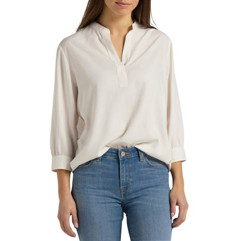 Lee Jeans Off White Long Sleeve Blouse