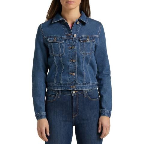 Lee Jeans Indigo Button Through Denim Cotton Jacket