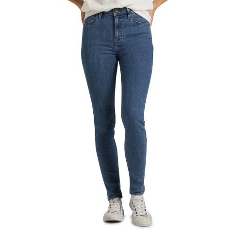 Lee Jeans Blue Ivy High Rise Cotton Blend Skinny Jeans