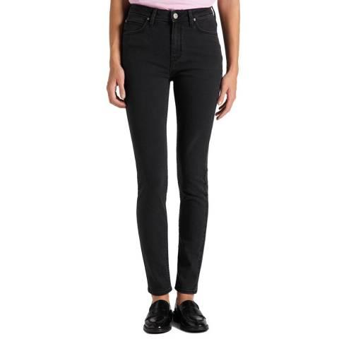 Lee Jeans Washed Black Scarlett Cotton Blend Skinny Jeans