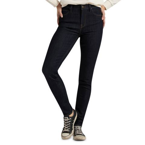 Lee Jeans Black Scarlett High Rise Cotton Blend Skinny Jeans