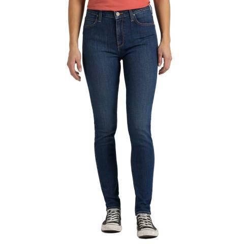 Lee Jeans Mid Blue Scarlett Skinny Cotton Jeans
