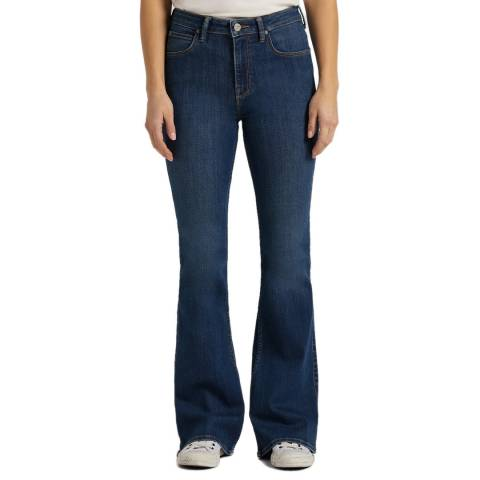 Lee Jeans Dark Blue Breese Mid Rise Cotton Blend Jeans
