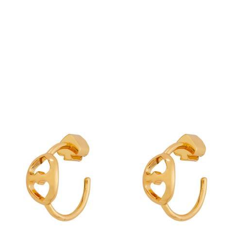 Kate Spade Gold Duo Link Small Hoop Earrings