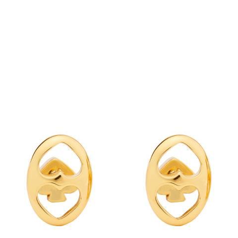 Kate Spade Gold Duo Link Stud Earrings