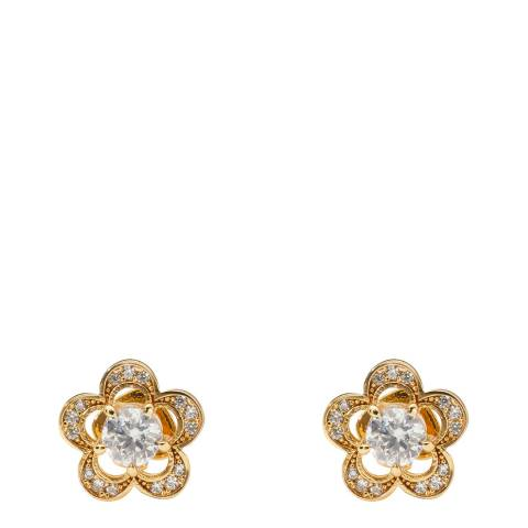 Kate Spade Gold Jeweled Stencil Scallop Stud Earrings