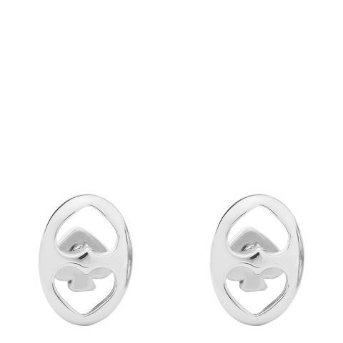 Kate Spade Silver Duo Link Stud Earrings