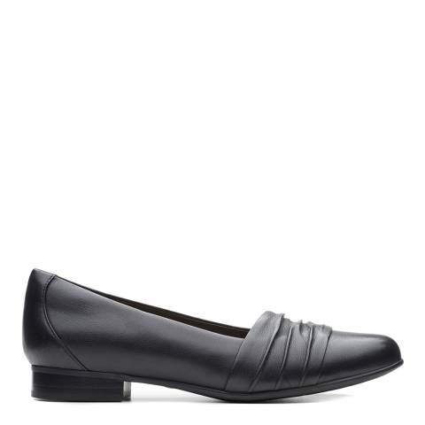Clarks Black Leather Vibe Shoes