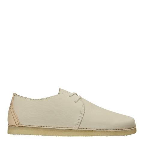 Clarks Originals Off White Ashton Nubuck Casual Shoes