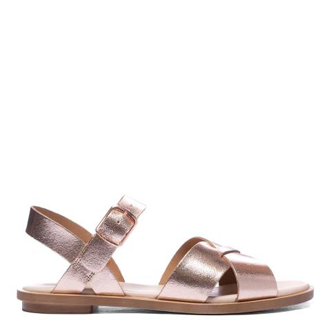 Clarks Rose Gold Leather Willow Gild Sandal