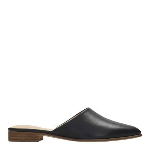 Clarks Black Leather Mule Sandal