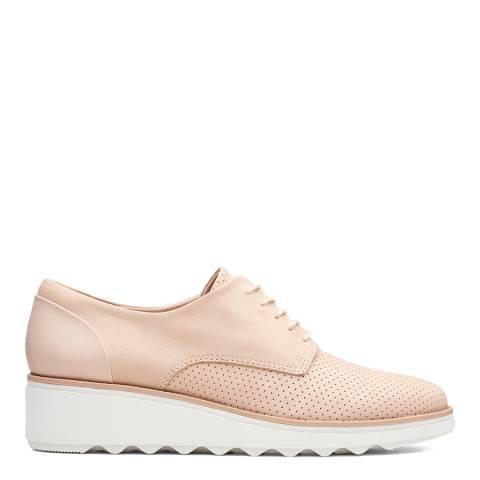 Clarks Blush Nubuck Sharon Crystal Shoes
