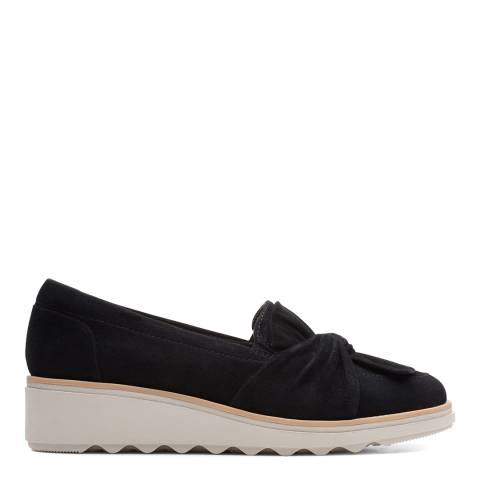 Clarks Black Suede Sharon Dasher Loafers