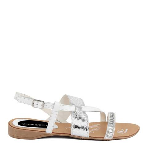 Fashion Attitude Silver Leather Crossover Printed Sandal