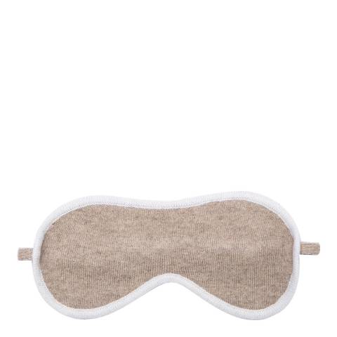 Laycuna London Taupe Eye mask with white trim