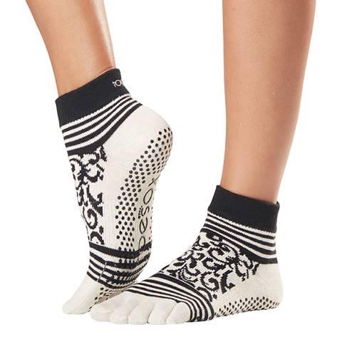 ToeSox Beloved Ankle Full Toe Grip Socks