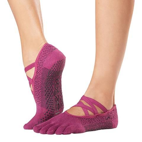 ToeSox Groovy Elle Full Toe Grip Socks