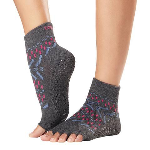 ToeSox Festival Ankle Half Toe Sock