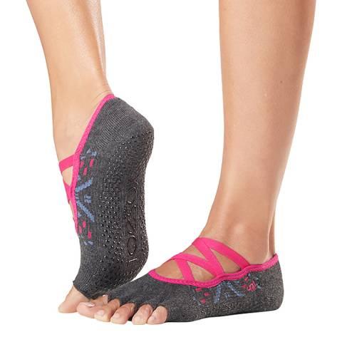 ToeSox Festival Elle Half Toe Grip Socks