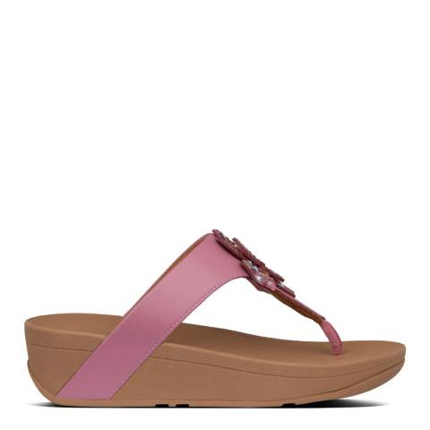 FitFlop Heather Pink Lottie Corsage Toe Post Sandals