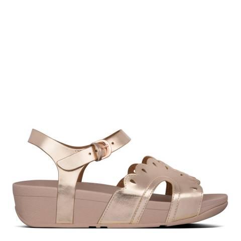 FitFlop Rose Gold Esther Floret Back-Strap Sandals