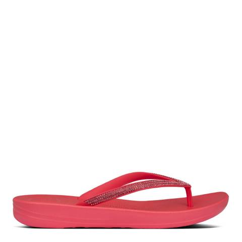 FitFlop Hot Pink Iqushion Sparkle Flip Flops