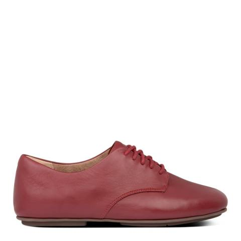 FitFlop Maroon Adeola Leather Lace-Up Derby's