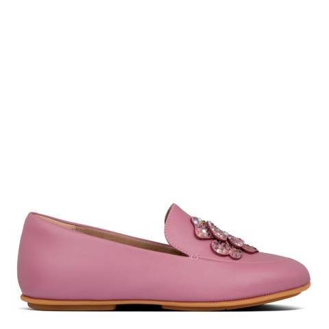 FitFlop Heather Pink Lena Corsage Loafers