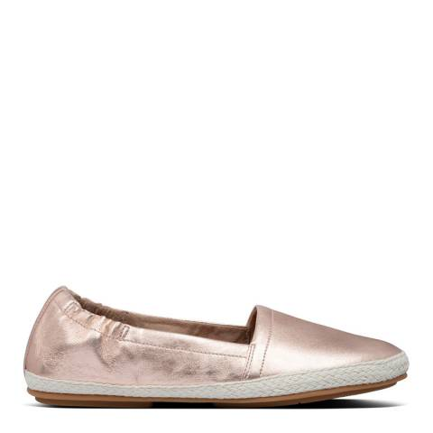 FitFlop Rose Gold Siren Leather Espadrilles