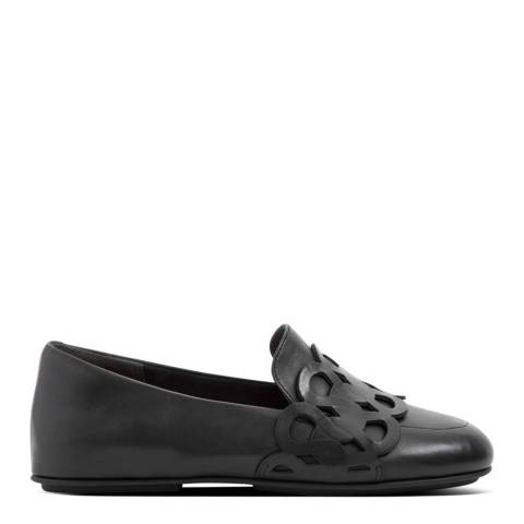 FitFlop All Black Lena Entwined Loops Loafers