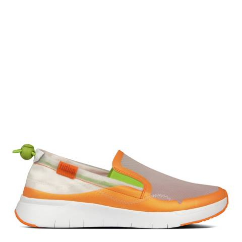 FitFlop Urban White Brielle Translucent Slip-On Sneakers