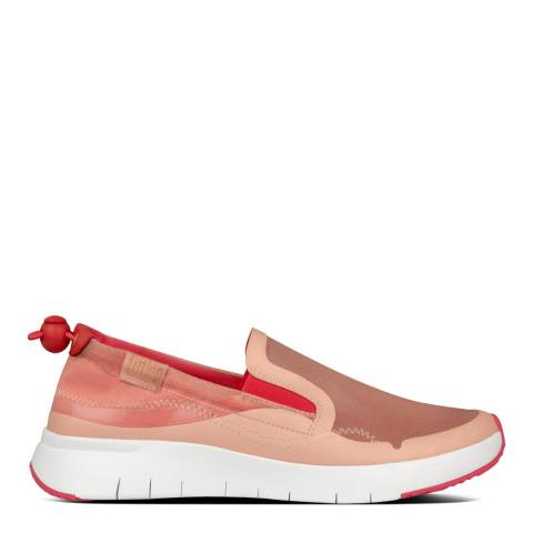 FitFlop Hot Pink Mix Brielle Translucent Slip-On Sneakers